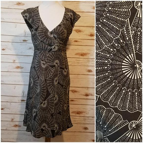 598d1a25c3 Garnet Hill Dresses & Skirts - Garnet Hill Silk Fan Dress